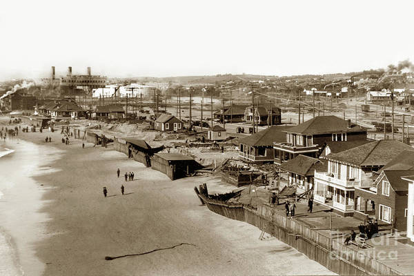 Photograph - Redondo Beach After A Big Winter Storm Of January 31, 1915 by California Views Archives Mr Pat Hathaway Archives