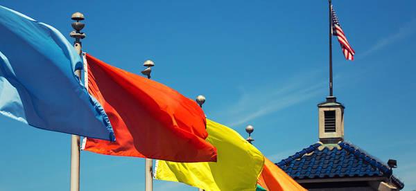 Photograph - Redondo Beach Flags by Michael Hope