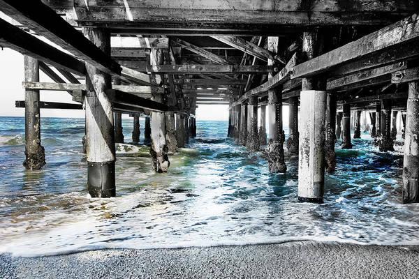 Under The Pier Photograph - Redondo Beach Horizontal by Rosanne Nitti