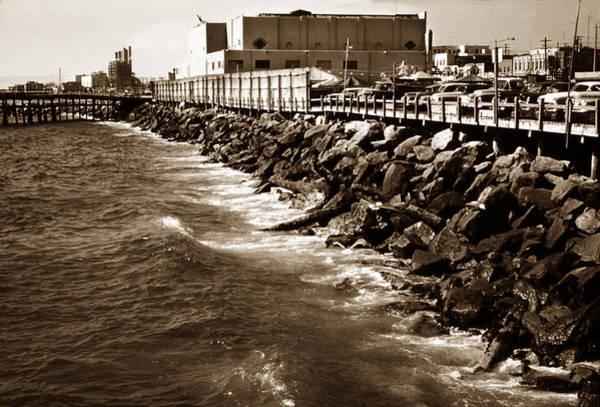 Turqoise Photograph - Redondo Beach Pier 1957 Sepia by Marilyn Hunt