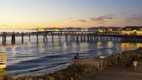 Photograph - Redondo Pier At Sunset by Michael Hope