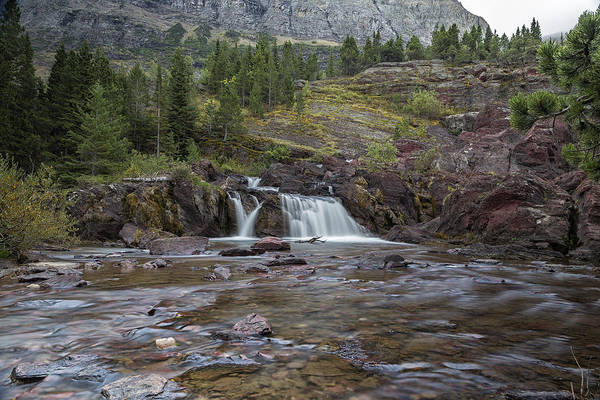 Photograph - Redrock Falls - Glacier National Park by Belinda Greb