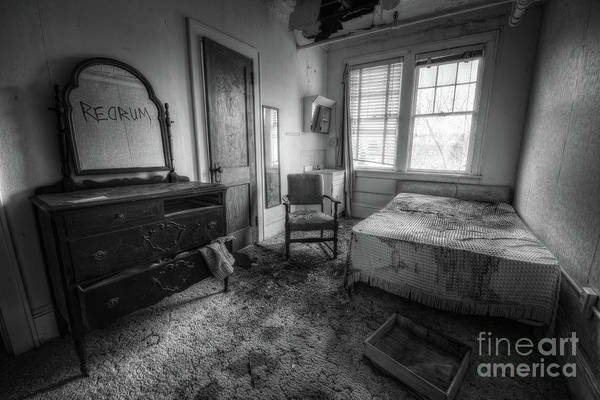 Wall Art - Photograph - Redrum Bw by Michael Ver Sprill