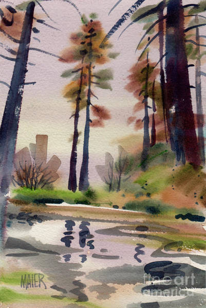 Russian River Painting - Redwood Reflections Along The Russian River by Donald Maier