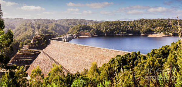 Dam Wall Art - Photograph - Reece Dam, Western Tasmania by Jorgo Photography - Wall Art Gallery