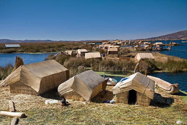 Photograph - Reed Houses At Uros Islands by Aivar Mikko
