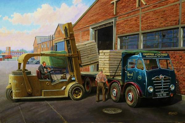 Wall Art - Painting - Reed Paper Foden Fg by Mike Jeffries