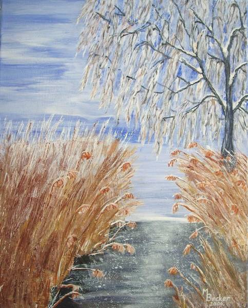 Painting - Reeds On The Riverbank No.1 by Joy of Life Art Gallery