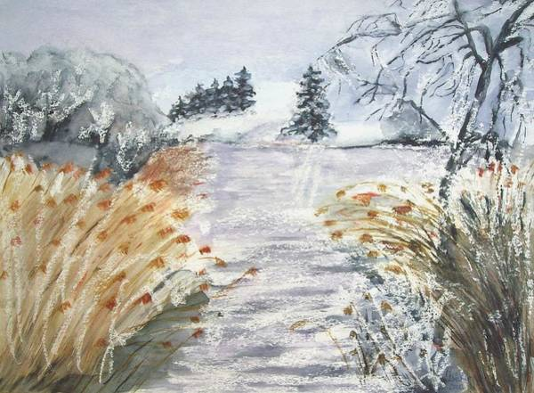 Painting - Reeds On The Riverbank No.2 by Joy of Life Gallery