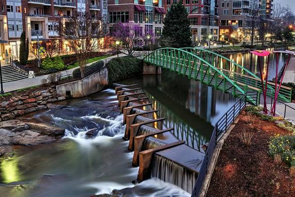 Photograph - Reedy River Greenville South Carolina Before Sunrise by Carol Montoya