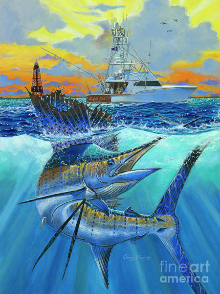 Fishing Boat Painting - Reef Cup 2017 by Carey Chen
