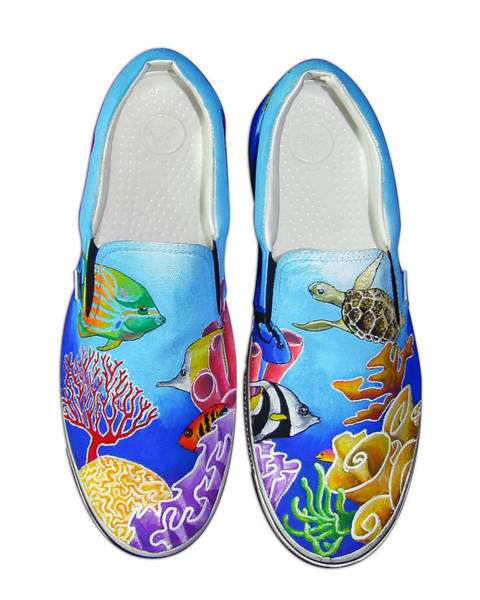 Sneakers Painting - Reef Walkers by Adam Johnson