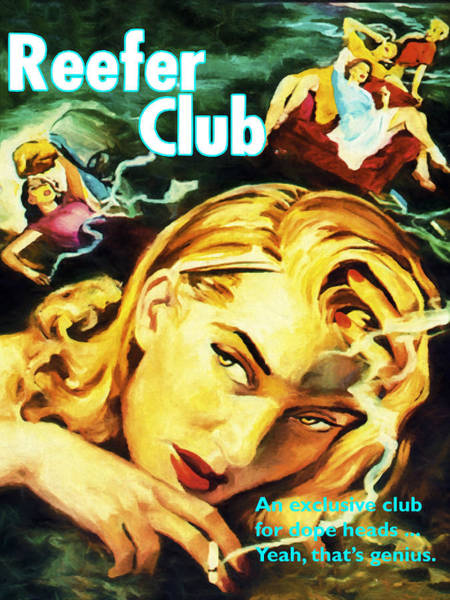 Dope Painting - Reefer Club by Dominic Piperata