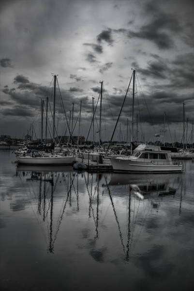 Photograph - Reefpoint Marina In Black And White by Dale Kauzlaric