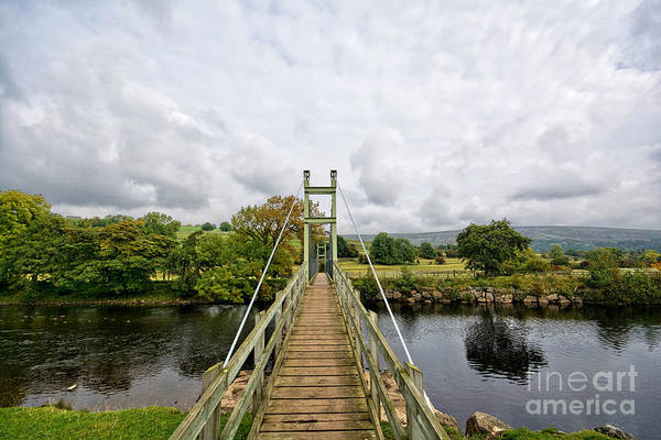 Swing Wall Art - Photograph - Reeth Swing Bridge by Smart Aviation