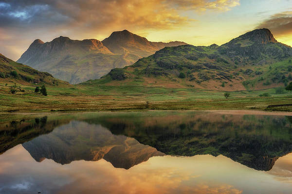 Photograph - Reflected Peaks by James Billings