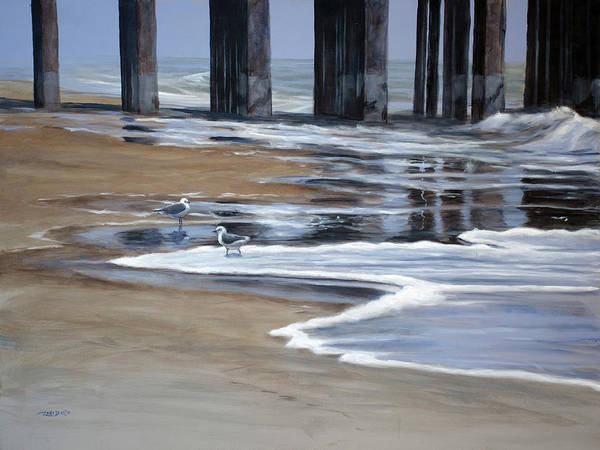 Painting - Reflected Pier by Christopher Reid