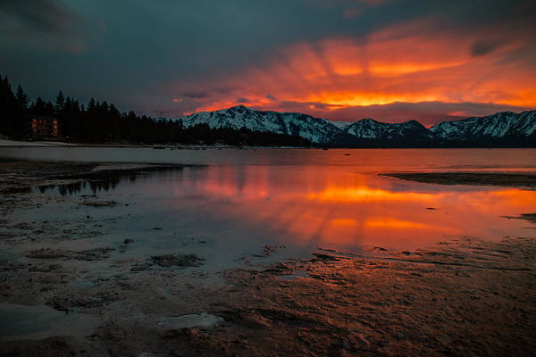 Lightroom Photograph - Reflected Rays Of Fire by Mike Herron