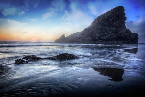 Photograph - Reflected Seastacks by Debra and Dave Vanderlaan