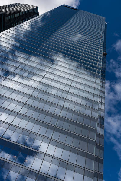 Photograph - Reflected Sky - Skyscraper Geometry With Clouds - Right by Georgia Mizuleva