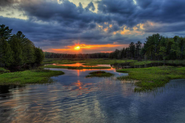Photograph - Reflected Sunset by David Patterson