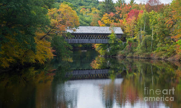 Henniker Photograph - Reflecting Bridge by Kevin Fortier