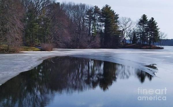 Willett Photograph - Reflecting On A Thaw At New Pond, Walpole by Poet's Eye