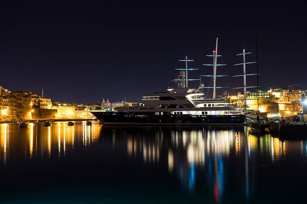 Photograph - Reflecting On Malta - Luxury Superyachts In Valletta by Georgia Mizuleva