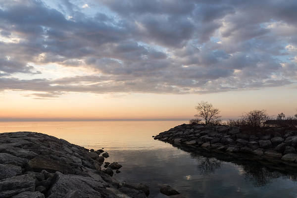 Promontory Point Photograph - Reflecting On Quiet Peaceful Mornings by Georgia Mizuleva