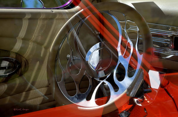 Photograph - Reflections At The Car Show 9 by Kae Cheatham