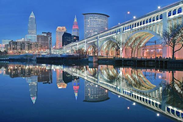 Wall Art - Photograph - Reflecting Sharply In The Cuyahoga by Frozen in Time Fine Art Photography