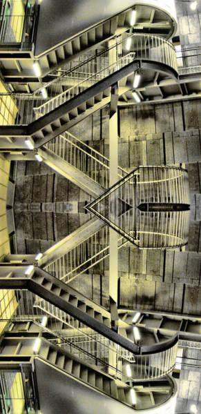 Reflecting Stairs Art Print
