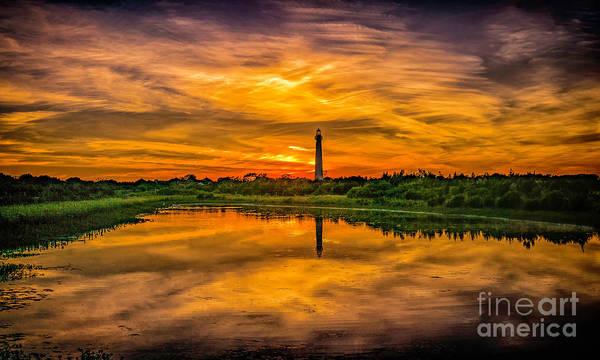 Photograph - Reflecting Sunset At The Lighthouse by Nick Zelinsky