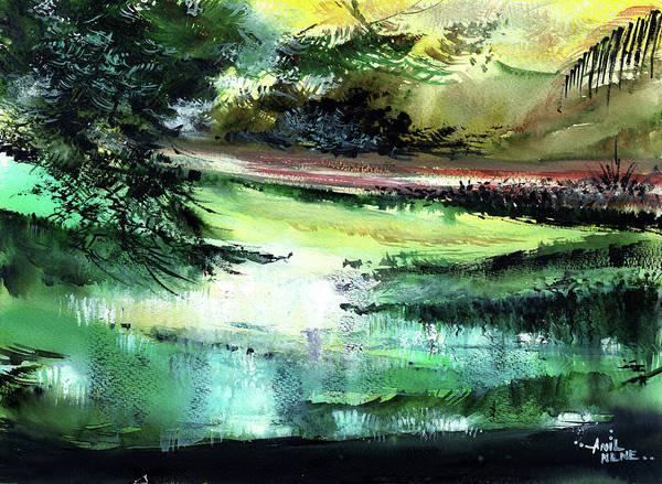 Painting - Reflection 2 by Anil Nene