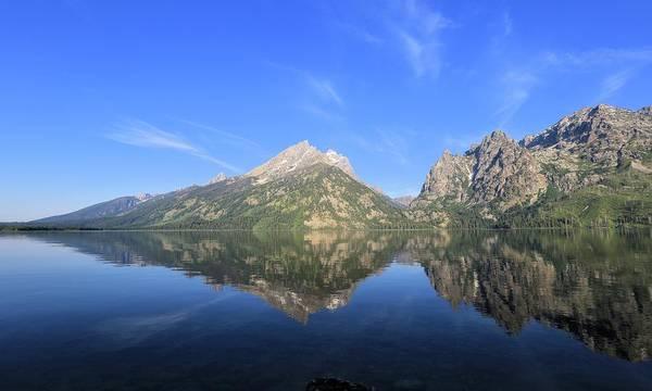 Reflection At Grand Teton National Park Art Print