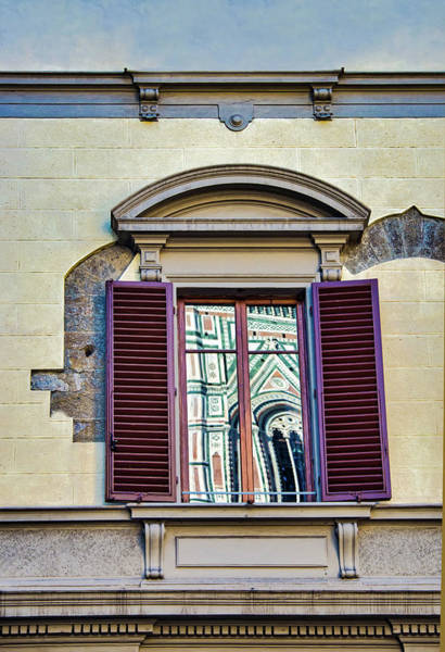 Photograph - Reflection In Florence Window by Gary Slawsky