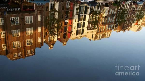 Wall Art - Photograph - Reflection Of Houses. Amsterdam. Netherlands. Europe by Bernard Jaubert