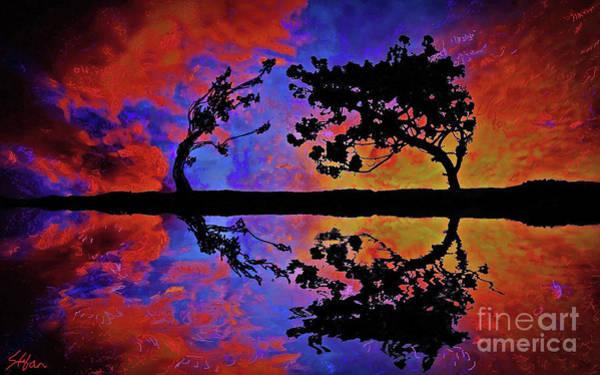 Digital Art - Reflection Of Love by Stefan Duncan
