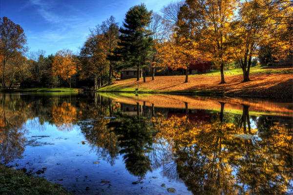 Photograph - Reflection Of Northeast Ohio Fall by David Dufresne