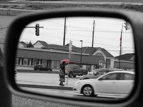 Photograph - Reflection On A Roadside by Richard Reeve