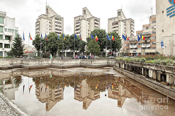 Ceausescu Wall Art - Photograph - Reflection On Building-sins by Christian Hallweger