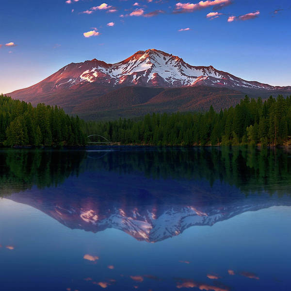 Photograph - Reflection On California's Lake Siskiyou by John Hight
