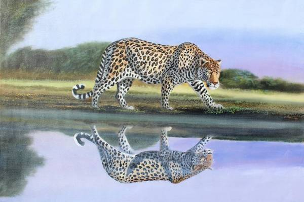 Painting - Reflection Stalk by Wycliffe Ndwiga