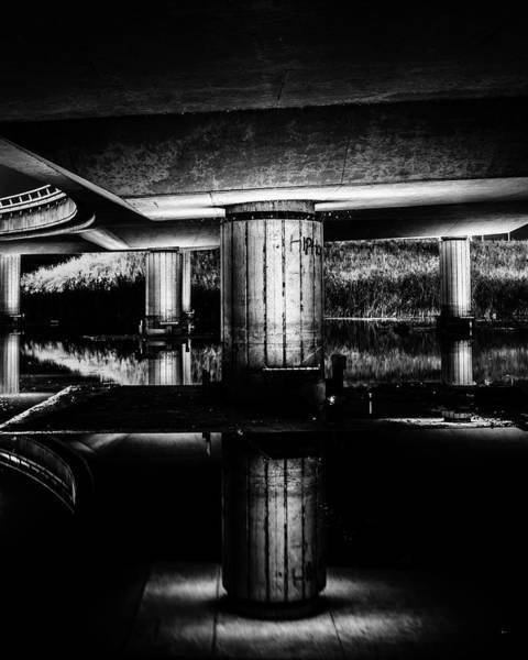 Photograph - Reflection Under A Bridge Overpass by Alexandre Rotenberg
