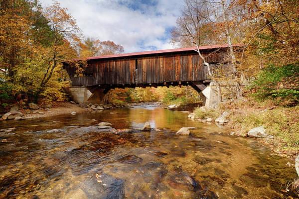 Photograph - Reflection Under The Durgin Bridge by Jeff Folger