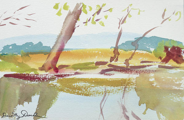 Painting - Quiet Stream by Dorothy Darden