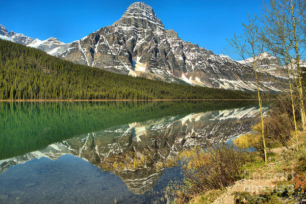 Photograph - Reflections Along The Shores Of Waterfowl Lakes by Adam Jewell