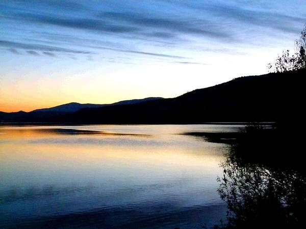 Okanagan Valley Digital Art - Reflections And Silhouettes by Will Borden
