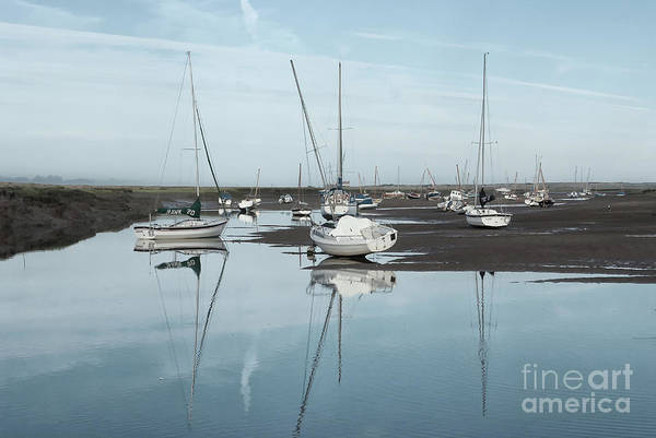 Wall Art - Photograph - Reflections At Brancaster Staithe Norfolk by John Edwards