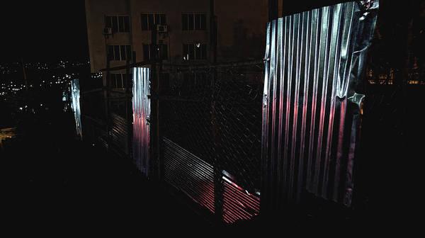 Photograph - Reflections At Night, Kigali 2009 by Chris Honeyman